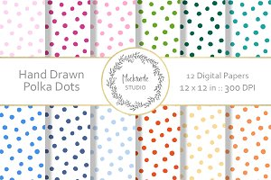 Polka Dot digital paper