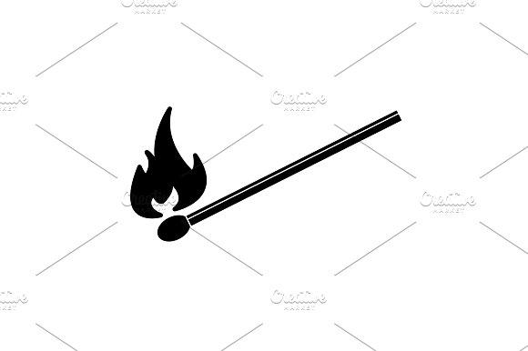 Burning Match Icon Vector