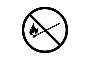 no fire sign icon. vector