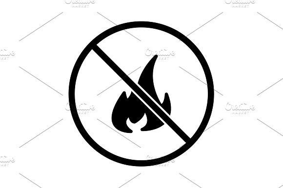 No Fire Sign Icon Vector