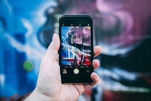 Street art London phone photo
