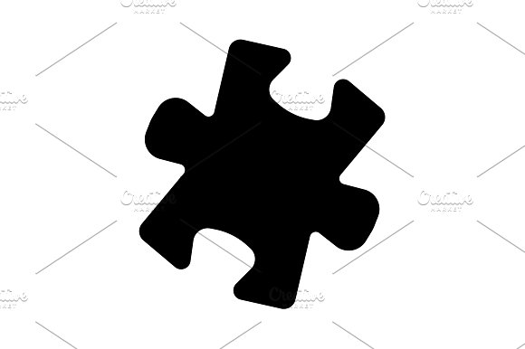 Simple Puzzle Icon Vector