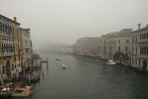 Foggy Sunset In Venice Canal 02