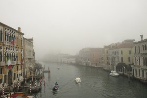 Foggy Sunset In Venice Canal 03