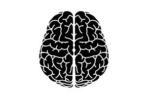 Brain icon. vector illustration