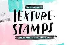 Procreate Texture Stamp Pack