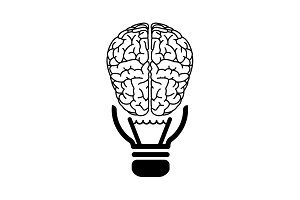 Brain idea icon. vector illustration