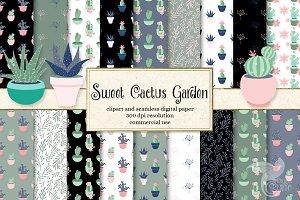 Sweet Cactus Garden Graphics