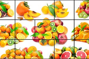 fruits and vegetables in frame