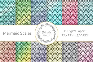 Mermaid digital paper