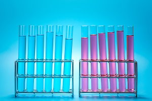 science laboratory test tubes