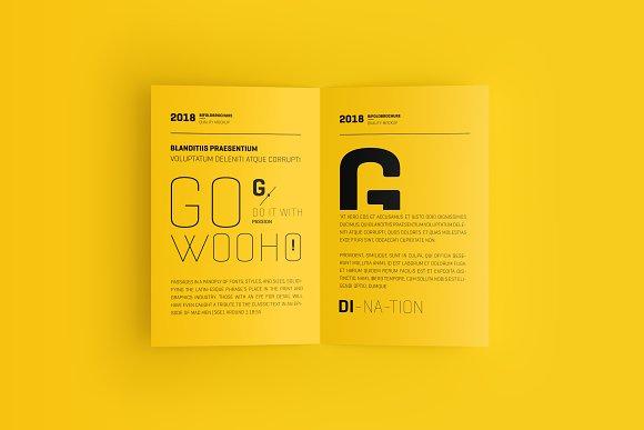 Download US Letter Bifold Brochure Mockup