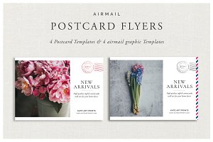 Airmail Postcard Flyers
