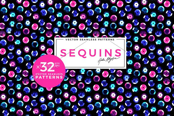 Sequins Vector Seamless Pattern