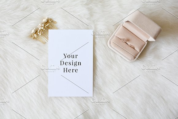 Blush Ring Wedding 4x6 Mockup