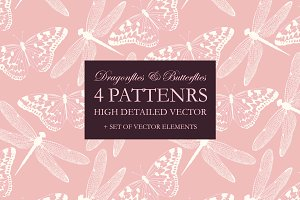Dragonflies and Butterflies Patterns