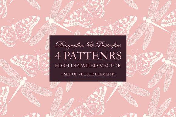 Dragonflies And Butterflies Patterns