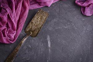 vintage iron spatula