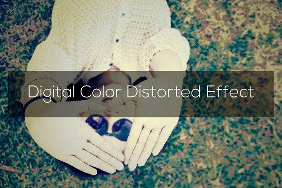 Digital Color Distorted Effect