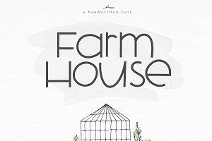 Farmhouse - A Bold Handwritten Font