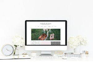 Wix Website Template, wedding