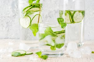 Mint & cucumber infused water