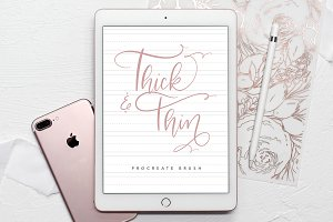 Thick & Thin Procreate Brush