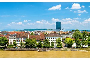 View of Basel city with the Rhine