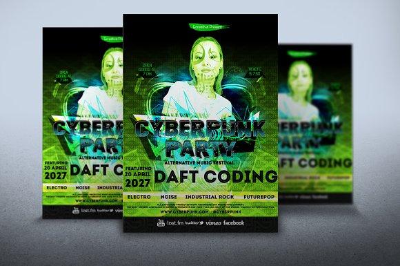Flyer Cyberpunk Template
