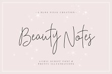 Beauty Notes Script + Illustrations