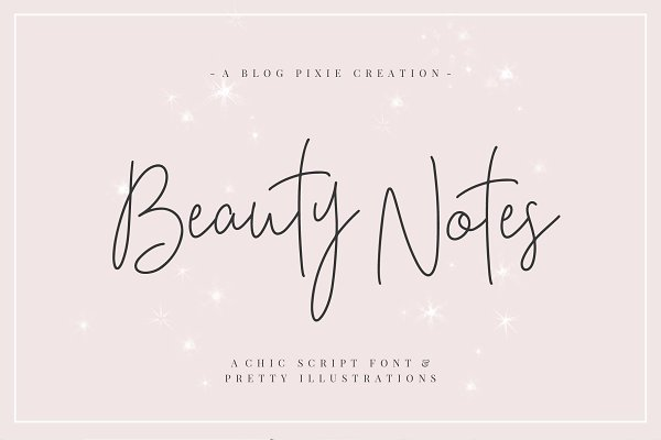 Beauty Notes Script + Illustrations