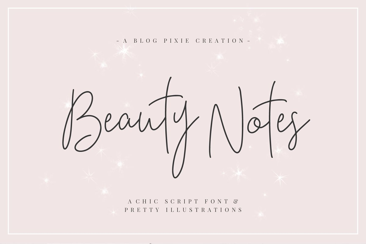 Beauty Notes Script + Illustrations in Script Fonts - product preview 8