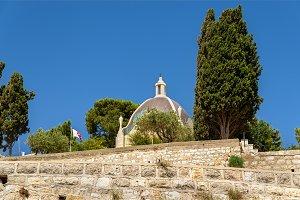 Dominus Flevit Roman Catholic church on the Mount of Olives - Jerusalem, Israel