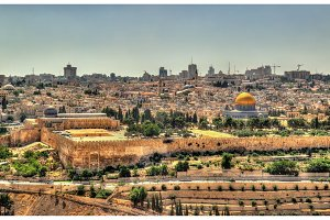 View of the Temple Mount in Jerusalem