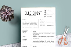 4 Pages Creative Resume Template