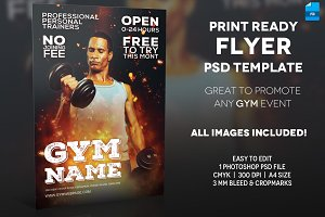 GYM - A4 Flyer Template