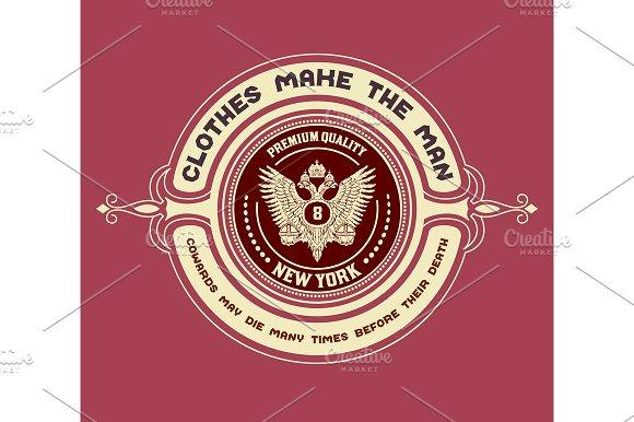 Retro emblem, Heraldic elements
