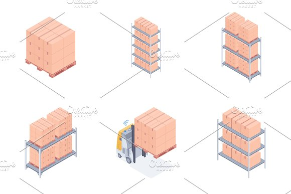 Set Of Warehouse Units
