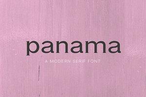 Panama - A Modern Serif Font