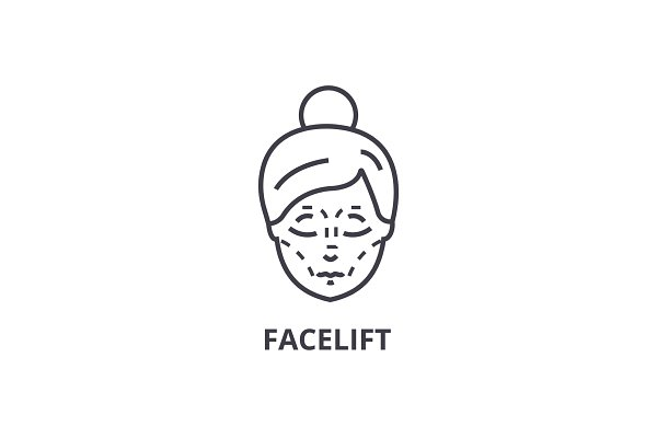 facelift thin line icon, sign, symb…