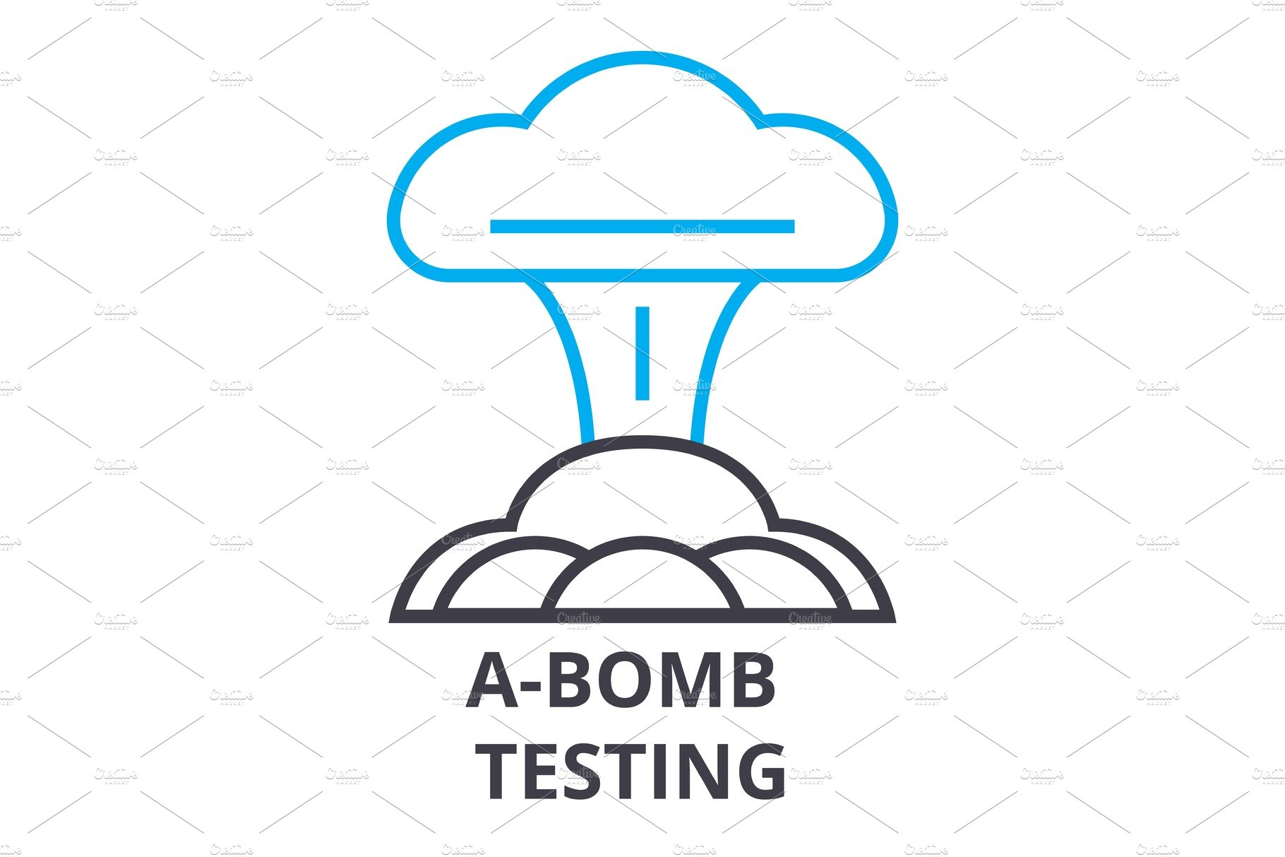 A Bomb Testing Thin Line Icon Sign Symbol Illustation Linear