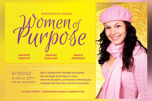 Women Of Purpose Church Flyer