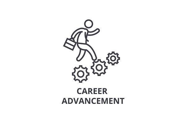 career advancement thin line icon…