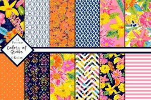 Summer Digital Paper / Patterns
