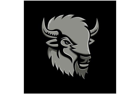 American Bison Head Metallic Icon
