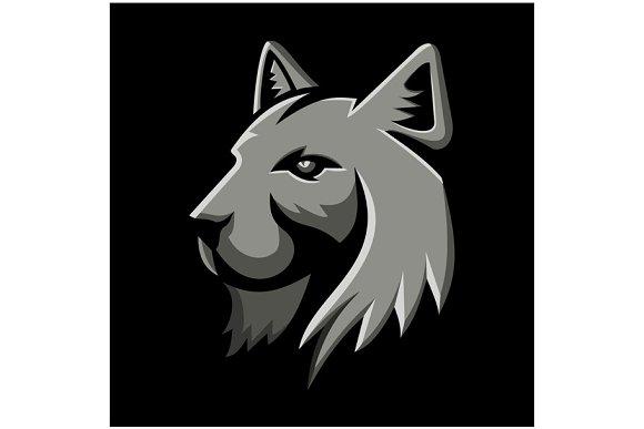 Bobcat Head Metallic Icon