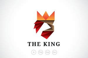 Ribbon King Logo Template