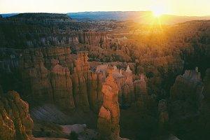 Sunrise over Canyons