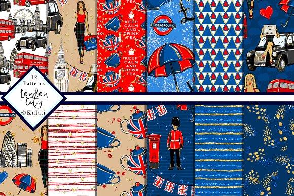 London City Patterns Digital Paper