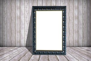 white paper in frame